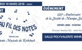 Flyer au fil des notes 2018