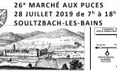 Marché aux puces de soultzbach-les-Bains2019